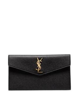 Large Uptown Leather Pouch by Saint Laurent