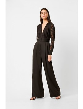 Annaleigh Satin Belted Jumpsuit by French Connection