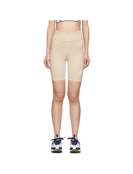 Beige Vector Logo Bike Shorts by Reebok Classics