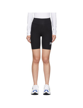 Black Vector Logo Bike Shorts by Reebok Classics