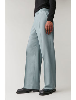 Long Wide Leg Wool Trousers by Cos