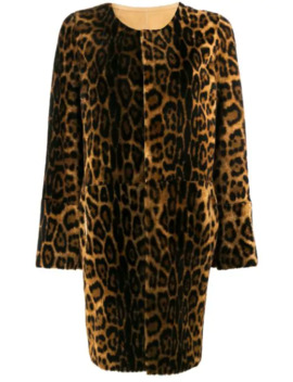 Leopard Print Shearling Coat by Yves Salomon