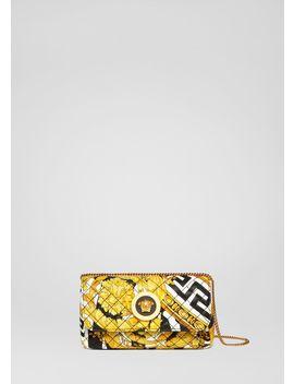 Kleine Icon Tasche Im Savage Barocco Print by Versace