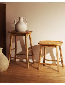 Wooden Stool  Furniture   Bedroom by Zara Home