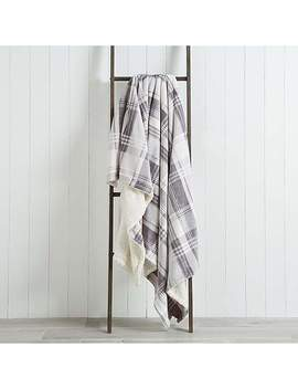 Check Sherpa 200cm X 200cm Throw by Dunelm