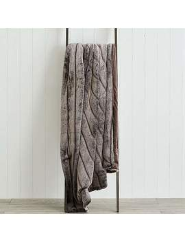 Carved Faux Fur 150cm X 200cm Throw by Dunelm