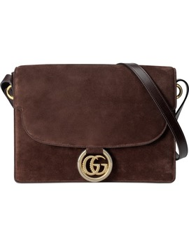 Medium Gg Ring Suede Shoulder Bag by Gucci