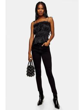 Black Zip Hem Jamie Jeans by Topshop
