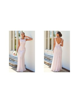 Gracey Pink High Neck Maxi Dress With Low Back by Sistaglam