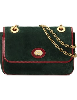 Small Marina Suede Shoulder Bag by Gucci