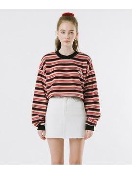 Untitle8  Red Striped Sweatshirt by Mixxmix