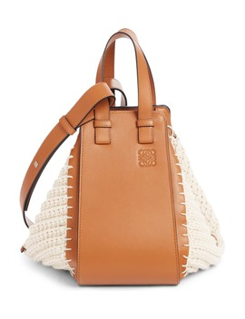 Small Hammock Knit & Leather Hobo by Loewe