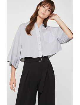Cotton Pinstripe Button Up by Bcbgmaxazria