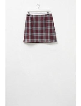 Check Mini Skirt by French Connection