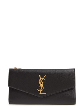 Uptown Large Leather Envelope Wallet by Saint Laurent