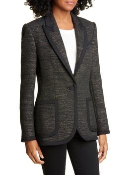 Bodanne Contrast Detail Tweed Jacket by Equipment