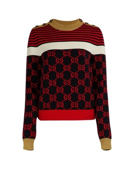 Gg Striped Sweater by Gucci
