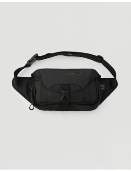 Bolsa De Cintura Preta Retangular by Pull & Bear