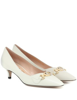 Gucci Zumi Leather Pumps by Gucci