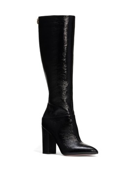 Ringstud Knee High Pointed Toe Boot by Valentino Garavani