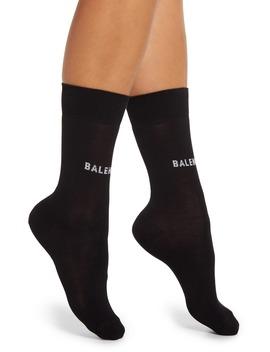 Classic Logo Socks by Balenciaga
