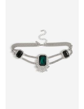 **Emerald Stone Rectangle Choker by Topshop