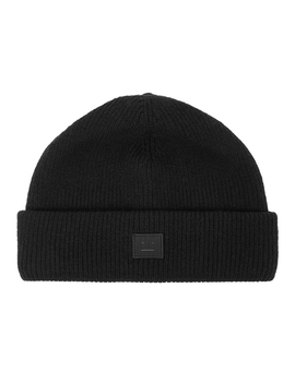 Kansy Black Wool Blend Beanie by Acne Studios
