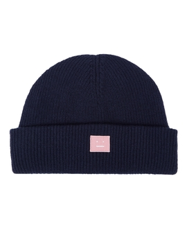 Kansy Navy Wool Blend Beanie by Acne Studios