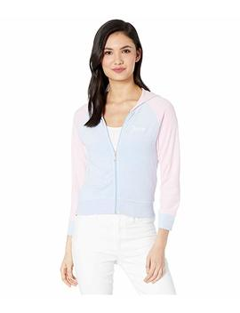 Juicy Color Block Microterry Logo Hood Jacket by Juicy Couture