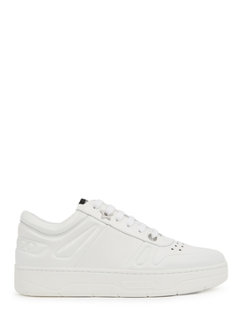 Hawaii/F White Leather Sneakers by Jimmy Choo