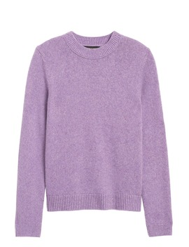 Cotton Blend Crew Neck Sweater by Banana Republic