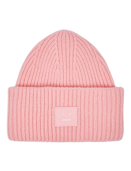Pansy Pink Wool Beanie by Acne Studios