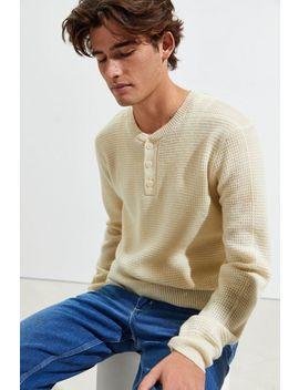 Schott Button Henley Sweater by Schott