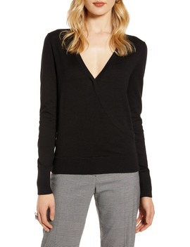 Faux Wrap Sweater by Halogen®