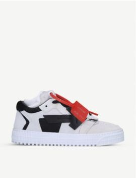 Odsy Leather And Suede Trainers by Off White C/O Virgil Abloh