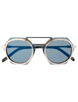 Hexagonal Frame Glasses by Hublot Eyewear