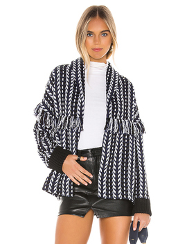 Kirsty Longline Tweed Bomber In Ink by Cupcakes And Cashmere
