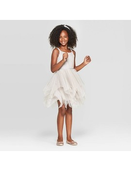 Girls' Sparkle Dress   Cat & Jack™ Champagne by Cat & Jack