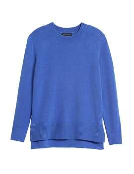 Super Soft Cotton Hi Low Hem Sweater by Banana Republic