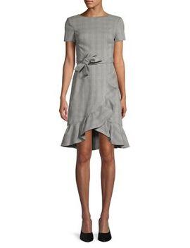Ruffle Plaid Dress by Calvin Klein