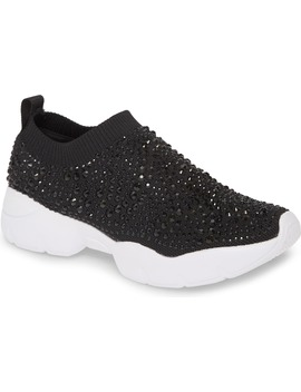 Carry Crystal Embellished Slip On Sneaker by Lauren Lorraine
