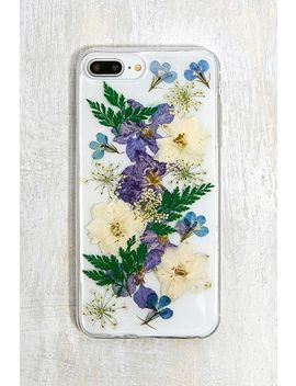 Blue Pressed Flower I Phone 6/7/8 Plus Phone Case by Urban Outfitters