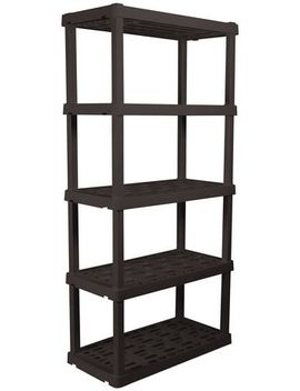 Hyper Tough Heavy Duty 5 Tier Interlocking Shelf, Black by Walmart