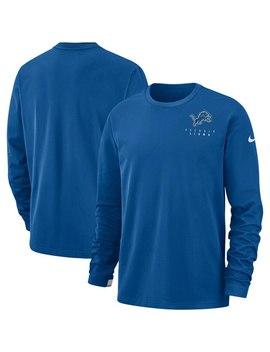 Men's Detroit Lions Nike Blue Sideline Performance Pullover Sweatshirt by Nfl