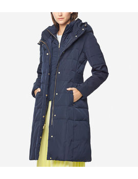 Signature 40 Inch Taffeta Down Coat by Cole Haan