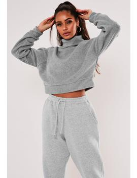 Light Gray High Neck Long Sleeve Fleece by Missguided