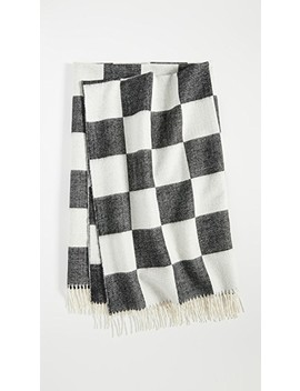 Checkerboard Baby Alpaca Throw Blanket by Jonathan Adler