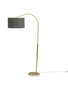 Mo Drn Mid Century Revival Hangover Floor Lamp With Tweed Drum Shade by Modrn