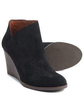 Lucky Brand Yakeena Wedge Ankle Boots   Suede (For Women) by Lucky Brand
