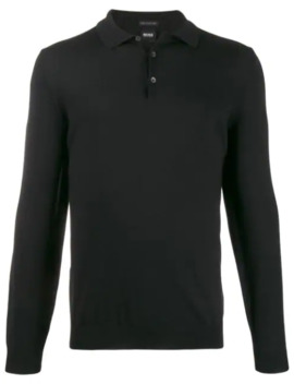 Langärmeliges Poloshirt by Boss